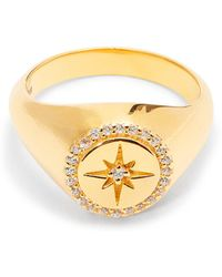 Theodora Warre - Star Gold-plated Signet Ring - Lyst