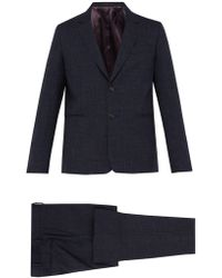 Paul Smith Soho Tailored Fit Check Wool Blend Suit - Blue