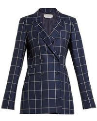 Gabriela Hearst - Miles Double-breasted Checked Wool Blazer - Lyst
