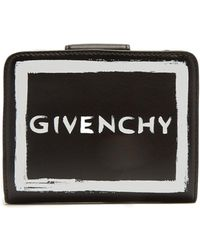 Givenchy | Graffiti Logo Leather Wallet | Lyst