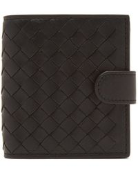 Bottega Veneta - Intrecciato Bi-fold Leather Wallet - Lyst