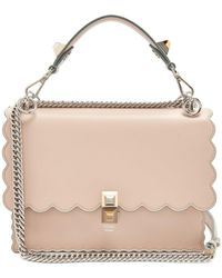 Lyst - Fendi Kan I Leather Shoulder Bag - Metallic in Metallic d3978409924f8