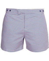 Frescobol Carioca - Copacabana Print Tailored Swim Shorts - Lyst
