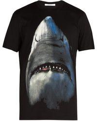 7602c456e776 Givenchy - Cuban Fit Shark Print Cotton T Shirt - Lyst