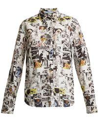 Prada - Comic-print Cotton-poplin Shirt - Lyst