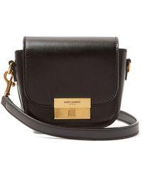 1e7c7cde03aa Lyst - Saint Laurent Université Medium Leather Cross-Body Bag in Black