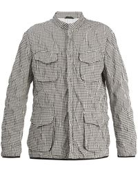 Giorgio Armani - Stand-collar Checked Jacket - Lyst