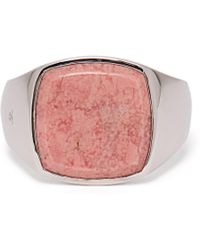 Tom Wood - Cushion Sterling Silver Signet Ring - Lyst