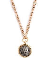Spinelli Kilcollin - Galina 18kt Rose Gold & Diamond Pavé Necklace - Lyst
