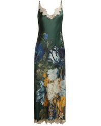 Carine Gilson - Lace-trimmed Floral-print Maxi Dress - Lyst