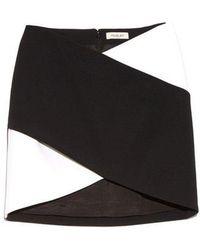 Mugler - Bi-colour Cady Mini Skirt - Lyst