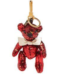 Burberry - Thomas Bear Sequinned Key Ring - Lyst