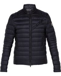 Moncler - Royat Quilted Shell Down Biker Jacket - Lyst