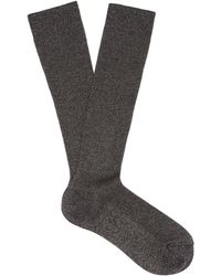 Raey - Lurex Ribbed Socks - Lyst