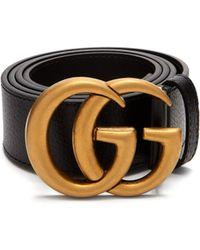 Gucci - Ceinture en cuir texturé GG - Lyst
