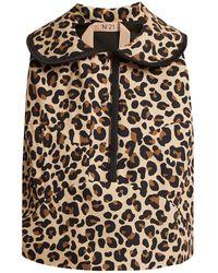 N°21 - Leopard-print Cotton-canvas Top - Lyst