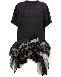 Junya Watanabe - Ruffled Tulle Tiered Wool Dress - Lyst