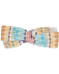 Missoni Zigzag Stripe Knitted Cotton Blend Headband