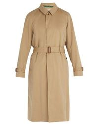 Burberry - Car Cotton Gabardine Coat - Lyst