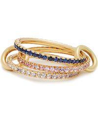 Spinelli Kilcollin - Aurora Sapphire, Tanzanite & Yellow Gold Ring - Lyst