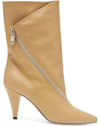 Givenchy - Point Toe Calf Height Leather Boots - Lyst