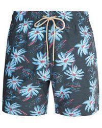 Faherty Brand - Beacon Midnight Palm-print Swim Shorts - Lyst