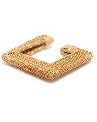 Cult Gaia - - Rosa Square Woven Straw Bangle - Womens - Brown - Lyst