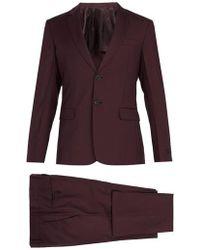 Prada - Single Breasted Wool Suit - Lyst