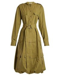 JW Anderson - Pinstriped Belted Shirtdress - Lyst