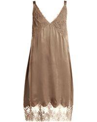 Icons - Art Marigold Silk Slip Dress - Lyst