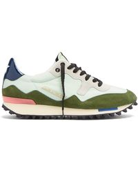Golden Goose Deluxe Brand - Starland Suede And Nylon Low Top Trainers - Lyst