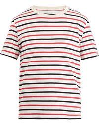 Maison Margiela   Set Of Three Striped Cotton-jersey T-shirts   Lyst