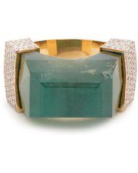 Jade Jagger - Diamond, Emerald & Yellow-gold Ring - Lyst