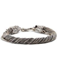 Emanuele Bicocchi - Twisted Sterling-silver Bracelet - Lyst