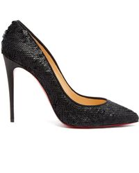 6438527ea2f Christian Louboutin - Pigalle Follies 100 Sequin Embellished Pumps - Lyst