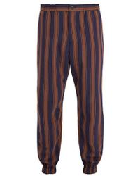 Etro - Straight-leg Striped Trousers - Lyst