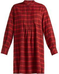 Étoile Isabel Marant - Dancy Checked Cotton Dress - Lyst
