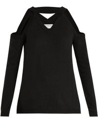 OSMAN - Emmeline Cut-out Shoulder Wool Sweater - Lyst