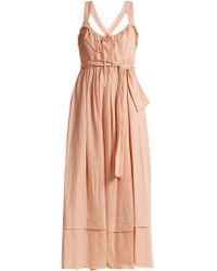 Three Graces London - Joan Tie-waist Linen Dress - Lyst