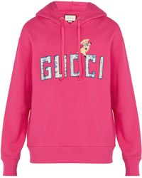Gucci - Floral Logo Hoodie - Lyst