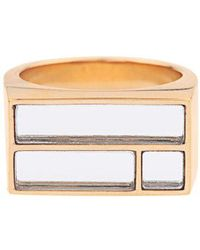 Aurelie Bidermann - Bianca Yellow Gold-plated Mirror Ring - Lyst