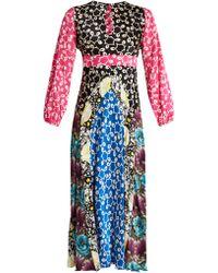 Duro Olowu - Robe en soie à empiècements contrastants Ivy - Lyst