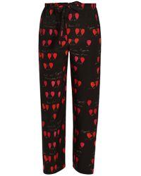 Alexander McQueen   Heart-print Straight-leg Trousers   Lyst