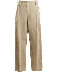 Golden Goose Deluxe Brand - Berta High-rise Wide-leg Canvas Trousers - Lyst