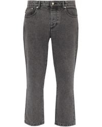 AMI - Straight Leg Cropped Jeans - Lyst