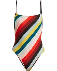 Solid & Striped - The Chelsea Striped Swimsuit - Lyst