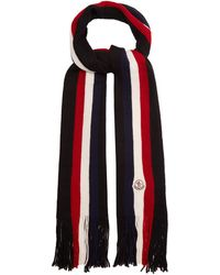 Moncler - Striped Wool Scarf - Lyst