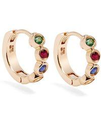Alison Lou - Sapphire, Ruby, Emerald & Gold Twister Earrings - Lyst