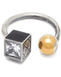 Bottega Veneta - Sterling Silver And Gold-plated Ball Ring - Lyst
