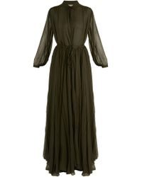 By. Bonnie Young - Long Sleeved Silk Chiffon Gown - Lyst